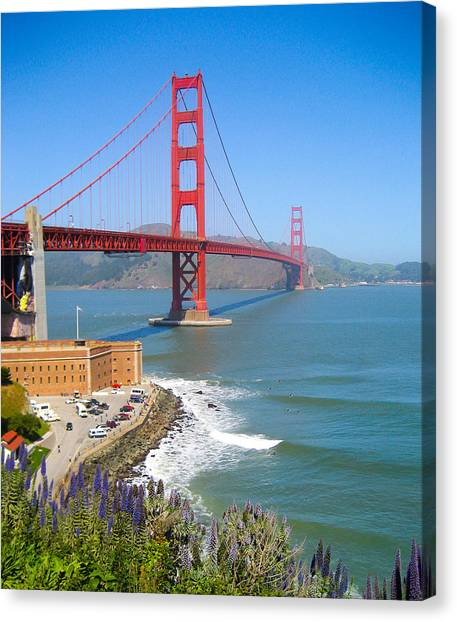 Golden Gate Wildflowers Canvas Print