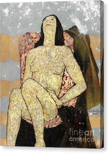Golden Girl Reclining Canvas Print