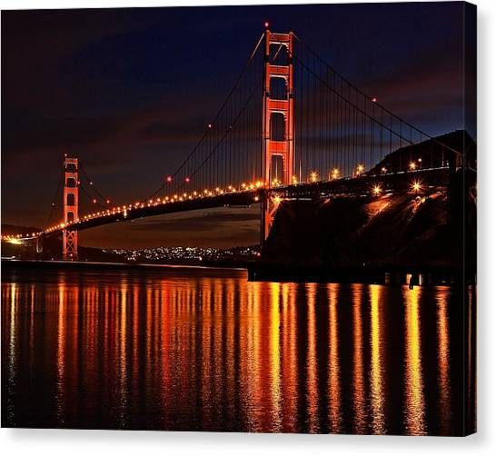 Golden Glory Canvas Print