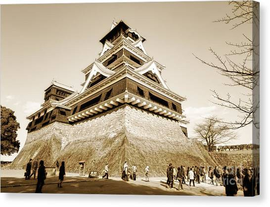 Golden Glow - Kumamoto Castle - Kyushu - Japan Canvas Print