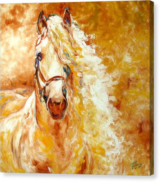 Abstract Horse Canvas Print - Golden Grace Equine Abstract by Marcia Baldwin