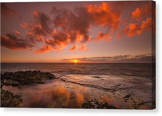 Golden Hawaii Sunset  Canvas Print