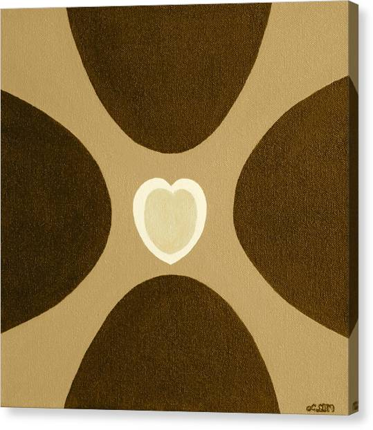 Golden Heart 3 Canvas Print