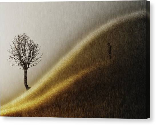 Desolation Canvas Print - Golden Hills by Helge Andersen