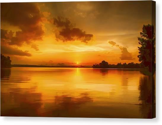 Golden Honey Sunset Canvas Print by Dan Holland