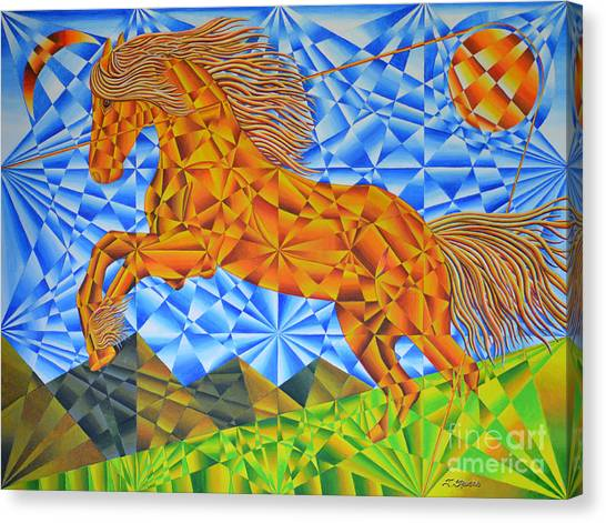 Golden Horse Over The Bitterroot's Canvas Print