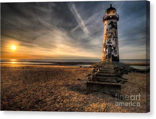 Wind Farms Canvas Print - Golden Light by Adrian Evans