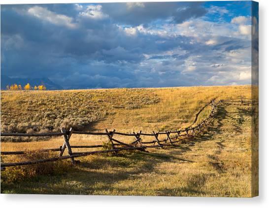 Bishop Hill Canvas Print - Golden Light On A Stormy Prairie by Kathleen Bishop