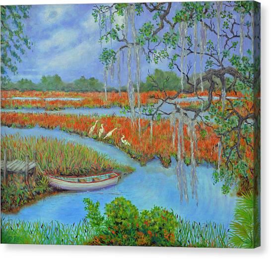 Golden Marsh 2 Canvas Print