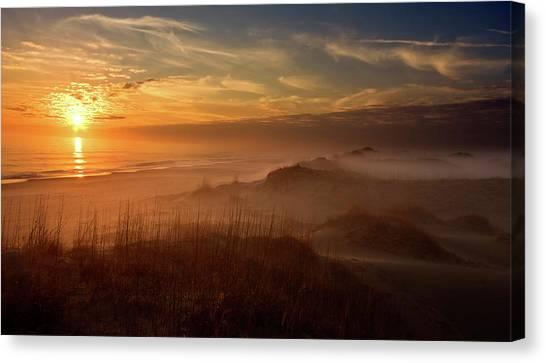 Sandy Beach Canvas Print - Golden Moment by Doug Roane