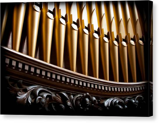 Golden Organ Pipes Canvas Print
