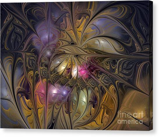 Golden Ornamentations-fractal Design Canvas Print