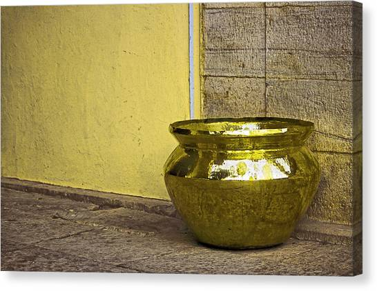 Golden Pot Canvas Print