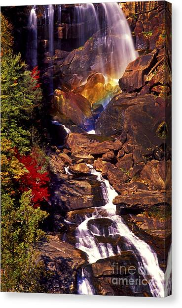 Golden Rainbow Canvas Print