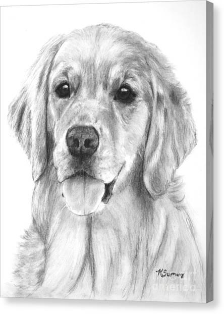 Golden Retriever Jessie Adult Canvas Print