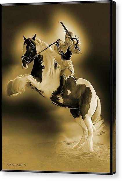 Golden Rider Canvas Print
