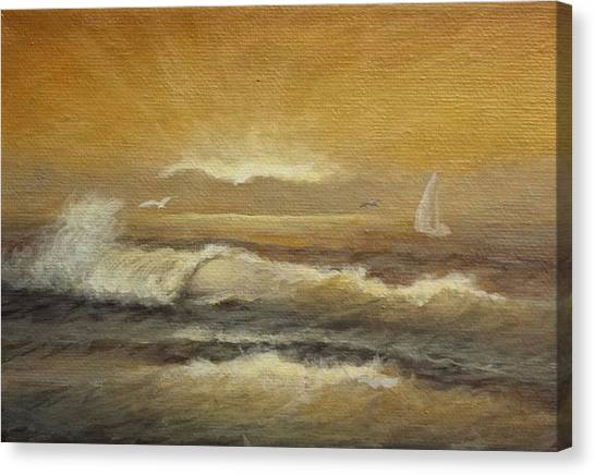 Golden Sail Canvas Print
