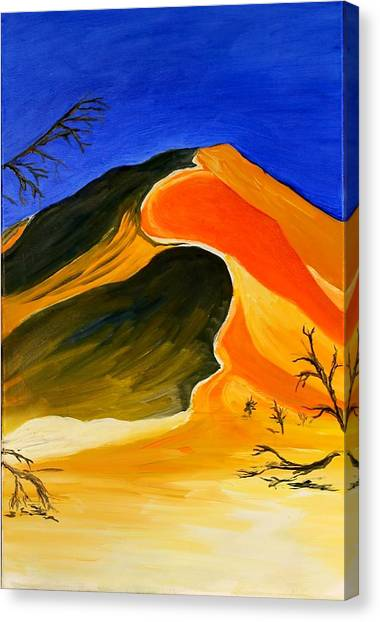 Golden Sand Dune Center Panel Canvas Print