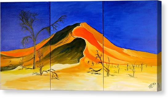 Golden Sand Dune_triptych Canvas Print
