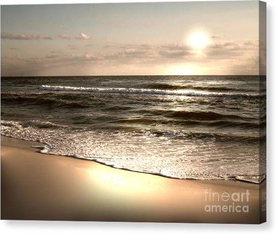 Golden Shoreline Canvas Print by Jeffery Fagan