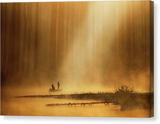 Fish Canvas Print - Golden Silence by Takashi Suzuki