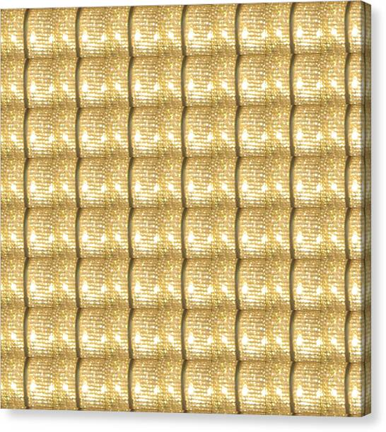 Hoodie Canvas Print - Golden Sparkle Biscuits Pattern Unique Graphic V3 by Navin Joshi