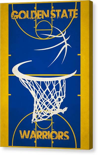 Golden State Warriors Canvas Print - Golden State Warriors Court by Joe Hamilton