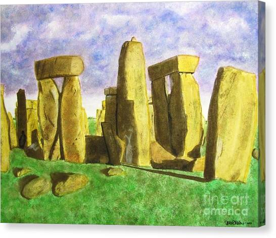 Golden Stonehenge Canvas Print