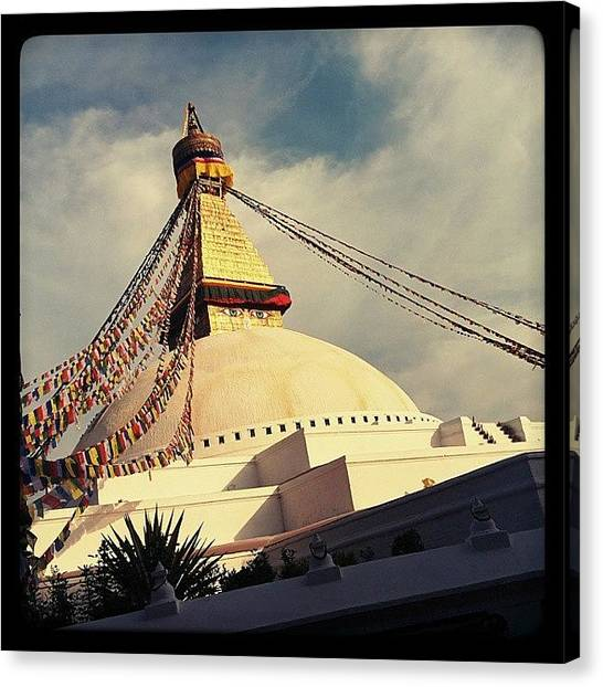 Geometry Canvas Print - Golden Stupa by Raimond Klavins