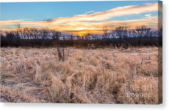 Prairie Sunrises Canvas Print - Golden Sunrise by Andrew Slater