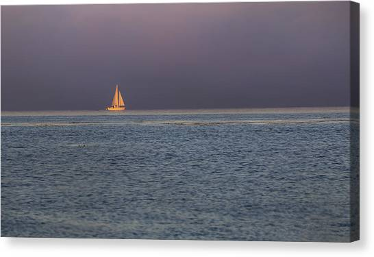 Golden Sunrise Sails By Denise Dube Canvas Print