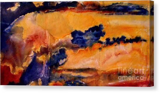 Golden Sunset Canvas Print by Julia  Walsh
