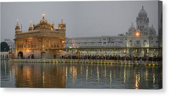 Golden Temple Canvas Print - Golden Temple At Dusk, Amritsar by Panoramic Images