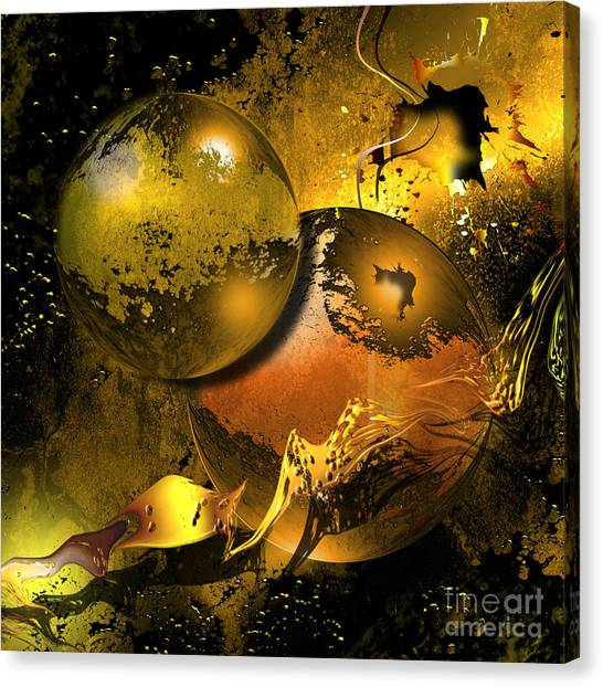 Planet Canvas Print - Golden Things by Franziskus Pfleghart