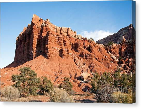 Golden Throne Capitol Reef National Park Canvas Print