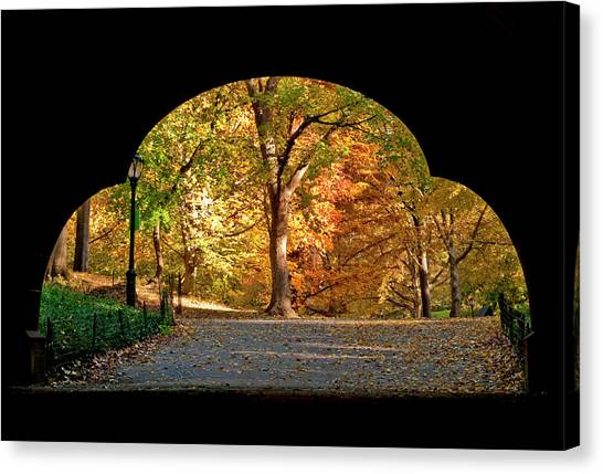 Golden Underpass Canvas Print