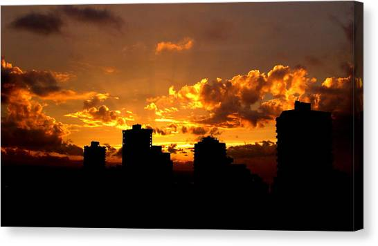 Golden Vancouver Sunset Canvas Print