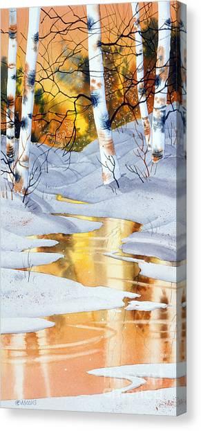 Golden Winter Canvas Print