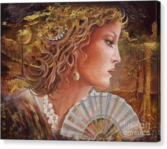 Golden Wood Canvas Print