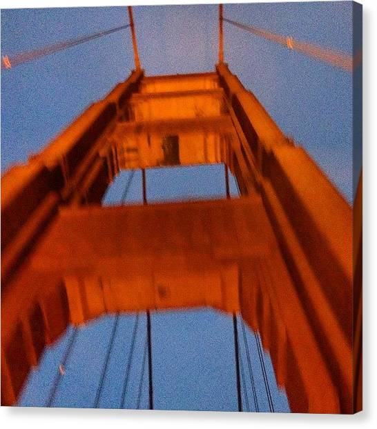 Art Deco Canvas Print - Golden Gate Bridge Tower Upshot by Eugene Evon