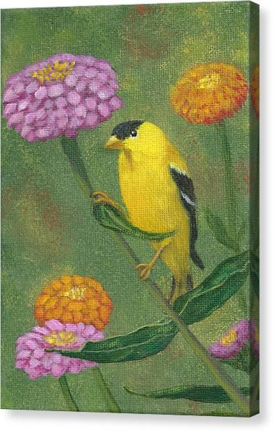 Goldfinch Garden Canvas Print