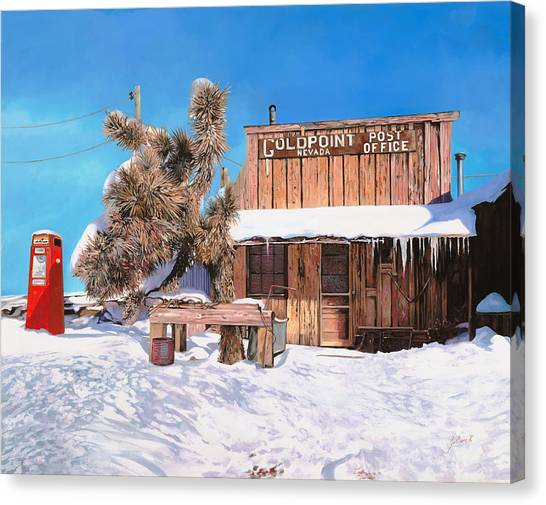 Nevada Canvas Print - Goldpoint-nevada by Guido Borelli