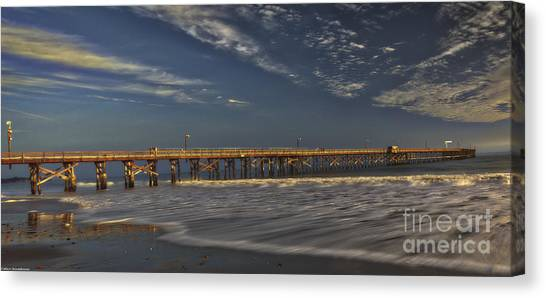 Ucsb Canvas Print - Goleta Beach And Pier by Mitch Shindelbower