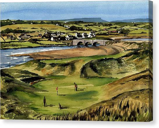 Clare  Golf At Lahinch Gc Canvas Print