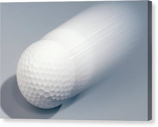 Fast Ball Canvas Print - Golf Ball In Motion by Ton Kinsbergen/science Photo Library