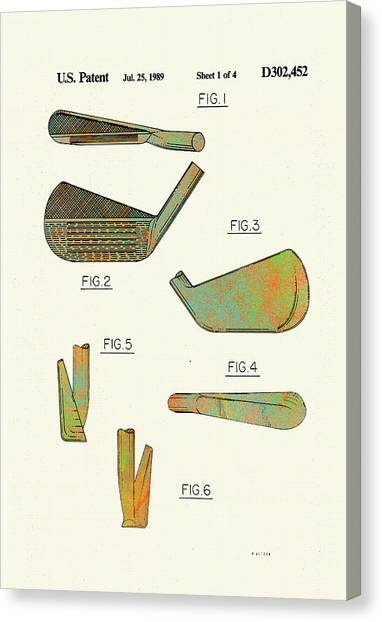Golf Club Patent-1989 Canvas Print