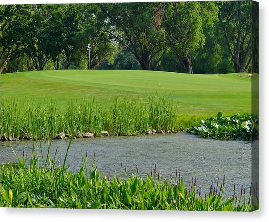 Jack Nicklaus Canvas Print - Golf Course Lay Up by Frozen in Time Fine Art Photography