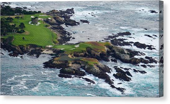 Golf Course Canvas Print - Golf Course On An Island, Pebble Beach by Panoramic Images