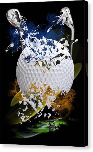 Golf Explosion Canvas Print