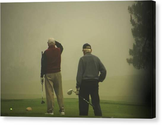 Golf In A Fog Canvas Print